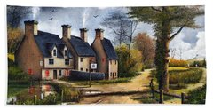 Hand Towel featuring the painting Travellers Rest by Ken Wood