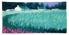 Turquoise Meadow Hand Towel