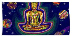 United Planets Of Buddha Bath Towel