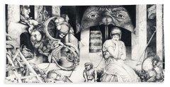 Vindobona Altarpiece IIi - Snakes And Ladders Hand Towel