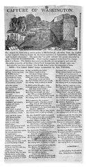 War Of 1812 Broadside Bath Towel