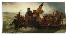 Washington Crossing The Delaware  Hand Towel