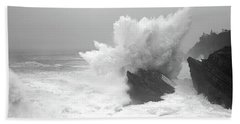 Waves Breaking On The Coast, Shore Hand Towel