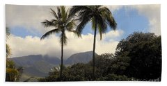 West Maui Mountains Hand Towel by Fred Wilson