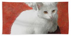 White Kittens Bath Towel