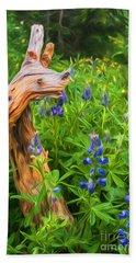 Wildflowers Hand Towel by Sharon Seaward
