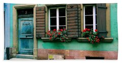 Bath Towel featuring the photograph Windows And Doors 6 by Maria Huntley