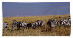 Zebra Migration, Masai Mara National Bath Towel