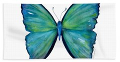 21 Blue Aega Butterfly Bath Towel