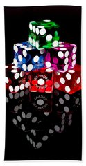 Colorful Dice Bath Towel
