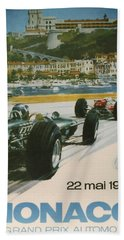 24th Monaco Grand Prix 1966 Hand Towel