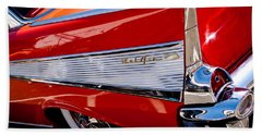 1957 Chevy Bel Air Custom Hot Rod Bath Towel by David Patterson