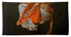 Bath Towel featuring the painting 3 30 Am by Thu Nguyen
