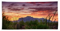 A Superstition Sunrise  Hand Towel