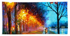 Alley By The Lake Hand Towel