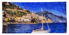 Amalfi Town In Italy Hand Towel