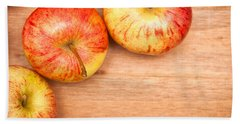 Hand Towel featuring the photograph Apples by Tom Gowanlock