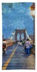 Brooklyn Bridge Promenade Hand Towel