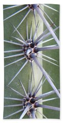 Hand Towel featuring the photograph Cactus Thorns by Deb Halloran
