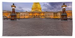 Hand Towel featuring the photograph Capitol Building by Peter Lakomy