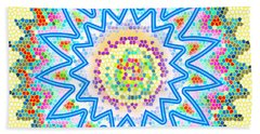 Colorful Signature Art Chakra Round Mandala By Navinjoshi At Fineartamerica.com Rare Fineart Images  Hand Towel