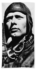 Hand Towel featuring the photograph Charles Lindbergh (1902-1974) by Granger
