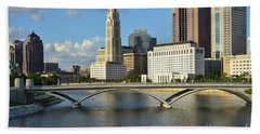 Columbus Ohio Skyline Photo Hand Towel