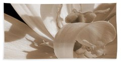 Double Late Tulip Named Angelique Hand Towel