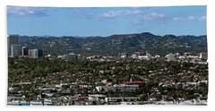 Elevated View Of Buildings In City Hand Towel by Panoramic Images
