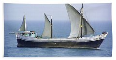 Fishing Vessel In The Arabian Sea Bath Towel