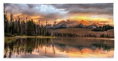 Golden Sunrise Bath Towel by Robert Bales