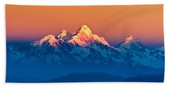 Himalayan Mountains View From Mt. Shivapuri Hand Towel by Ulrich Schade