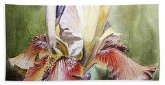 Iris Painting Hand Towel