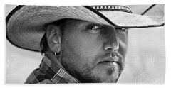 Jason Aldean Bath Towel by Marvin Blaine