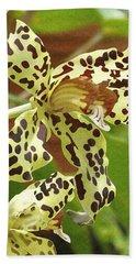 Leopard Orchids Hand Towel