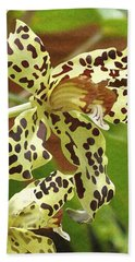 Leopard Orchids Bath Towel