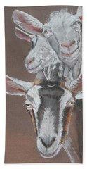 3 Nosey Goats Hand Towel