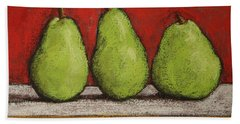 3 Pears Bath Towel by Marna Edwards Flavell