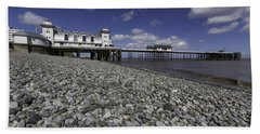 Penarth Pier 2 Bath Towel by Steve Purnell