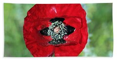 Poppy Flower Bath Towel by George Atsametakis