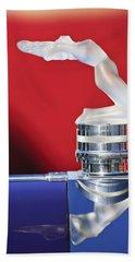 Rene Lalique - Chrysis - 1937 Rolls-royce Phantom IIi Aero Coupe Hood Ornament Bath Towel