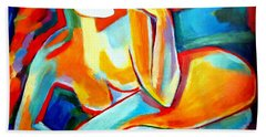 Hand Towel featuring the painting Repose by Helena Wierzbicki