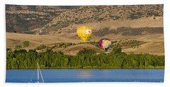 Rocky Mountain Balloon Festival Bath Towel