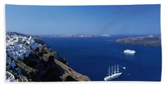 Santorini Greece Bath Towel