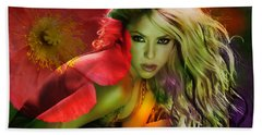 Shakira Hand Towel by Marvin Blaine