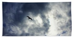 Hand Towel featuring the photograph Storm Flyer by Marilyn Wilson