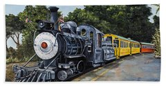 Hand Towel featuring the painting Sugar Cane Train by Darice Machel McGuire