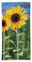 Sunflowers Bath Towel by Irina Sztukowski
