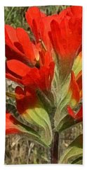 Texas Paintbrush Bath Towel