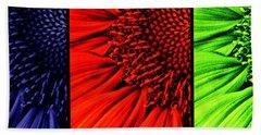 3 Tile Sunflower Colors Hand Towel